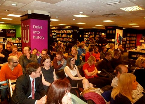 audience at Alison Littlewood's launch for A Cold Season, Waterstone's, Leeds