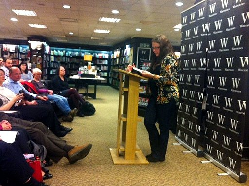 Alison Littlewood reading at her launch for Path of Needles