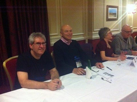 Paul Kane, Simon Clark, Lisa Tuttle and Stephen Volk - Beyond Rue Morgue signing, WFC