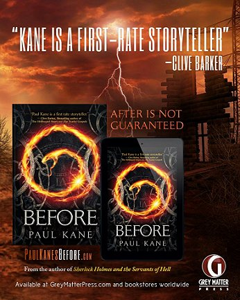 Advert for Before, by Paul Kane.