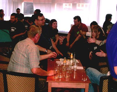 FCON gathering in the bar