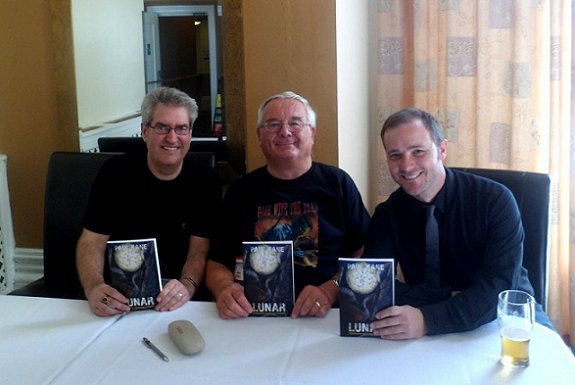 Paul Kane, Ramsey Campbell and Brad Watson at launch of Lunar.