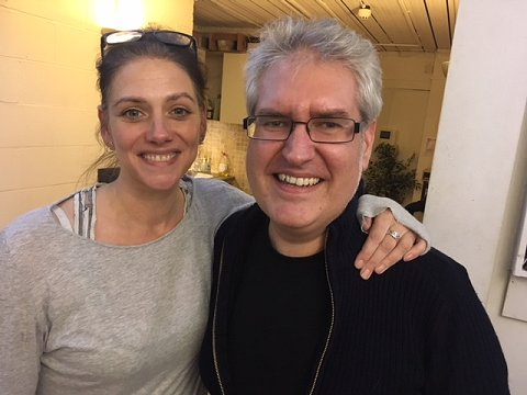 Neve McIntosh and Paul Kane