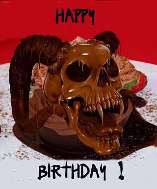 Happy Birthday skull