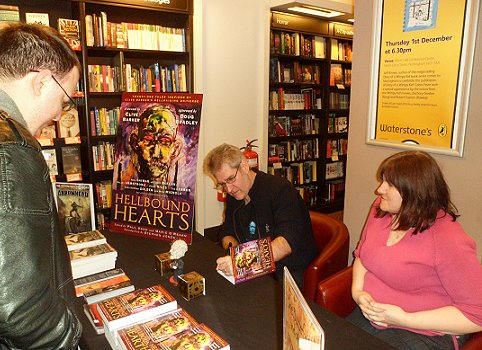 Paul Kane and Marie O'Regansigning copies of Hellbound Hearts at Waterstone's, Nottingham