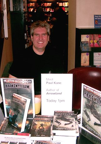 Paul Kane, Arrowehad signing, Waterstone's, Sheffield