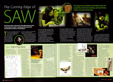 TV and Film Memorabilia, Saw article