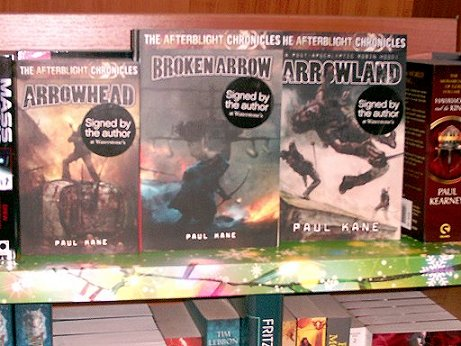 Arrowland Chronicles display, Waterstones, Burton