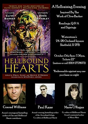 Hellbound Hearts event, Waterstone's, Sheffield