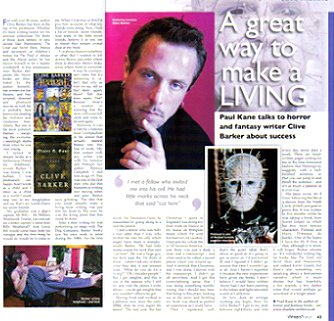 Writers' Forum, Clive Barker interview