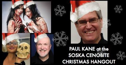 Paul Kane at the Soska Cenobite Christmas Hangout - with Nicholas Vince, Jen and Sylvia Soska, Barbie Wilde